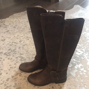 NIB Guess Wide Calf Brown Tall Boots 7M